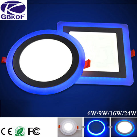 GBKOF 6W 12W 16W 24W led Ceiling Recessed panel Light Painel lamp decoration round