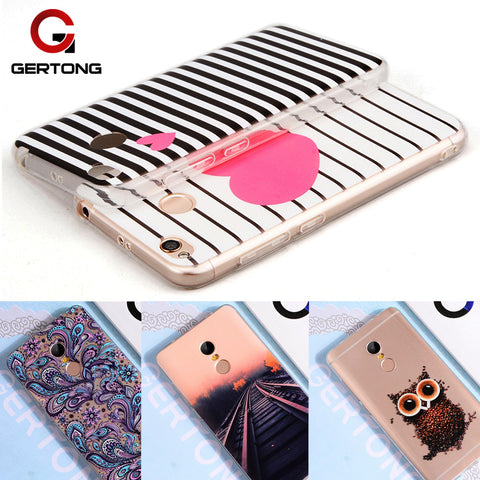 GerTong Colorful Printing TPU Case For Xiaomi Redmi Note 4X 4 Pro Prime Global 32GB 4A