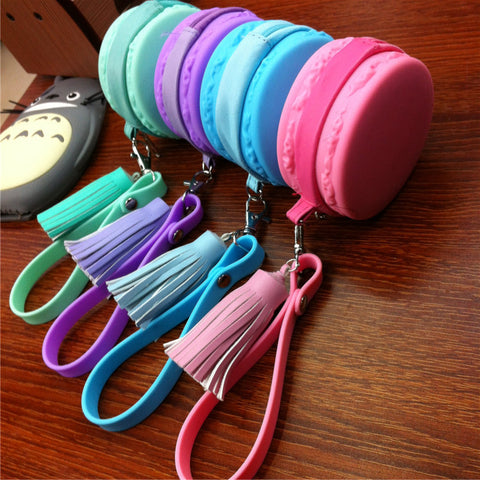 Girls Baby Cute Fashion Macaron Cake Shape Silicone Waterproof Coin Bag Women Ouch Purse