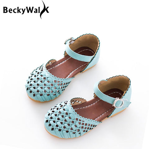 Girls Sandals Full Size Summer Kids Shoes Closed Toe Cutout Spring Children Sandal 3