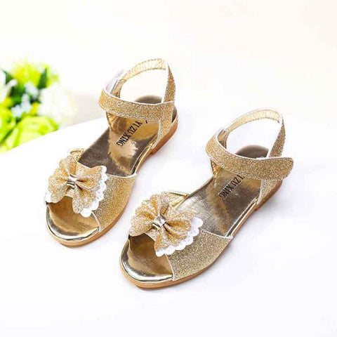 Girls sandals Summer New Children cute Bow sequins shoes fashion girls princess