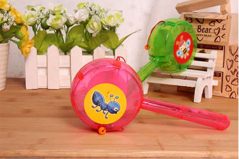 Glowing rattan swaying drums baby toys rattles with light electronic toys .