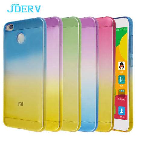 Gradual Color Case For Xiaomi Redmi 4X 4A 4 Pro Prime Silicone Cover 5.0 inch Soft TPU