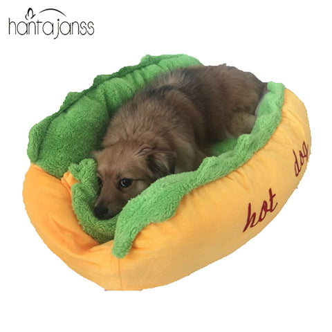 HANTAJANSS Hot Dog Bed Pet Winter Beds Fashion Sofa Cushion Supplies Warm Dog House Pet