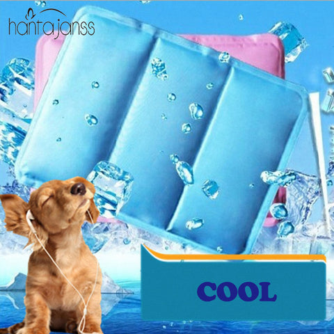 HANTAJANSS Pet Dog Bed Ice Mat Summer Puppy Double Layer PVC Leakproof Ice Pad Cooling