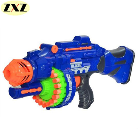HOT!!!!! Delivery New Electric Bursts Toy Gun 20 pcs Soft Bullet Big Gun Launchers