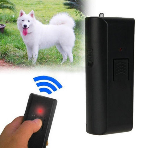 High Quality New 1PCS Black Safe Pet Dog Ultrasonic Aggressive Dog Repeller Train Stop