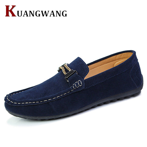 High Quality Suede Leather Men Casual Shoes Breathable Fashion Footwear Male Loafers Shoes