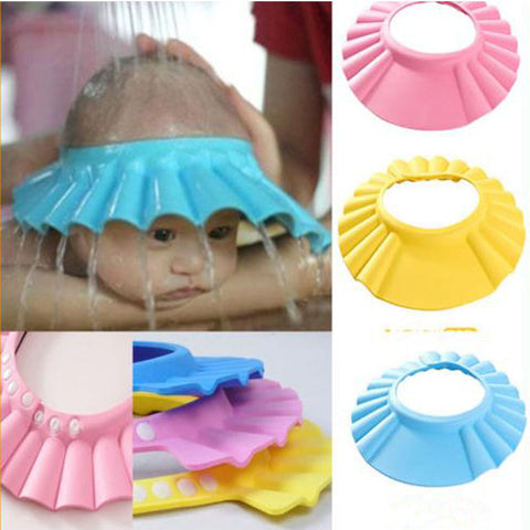 Hot Kids Children Shower Caps Comfortable Flexible Multicolor Kids Shampoo Bath Bathing