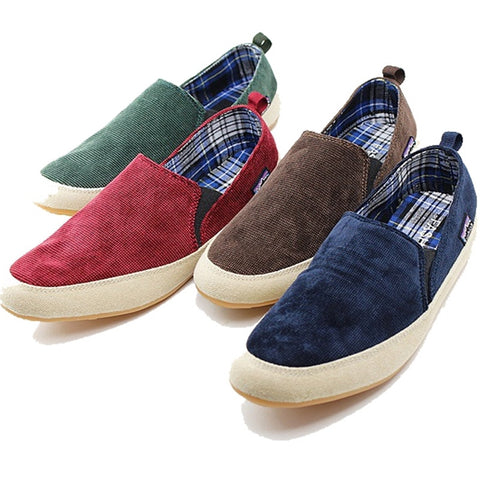 Hot Summer England men shoes fashion slip on driving loafers flats casual Canvas