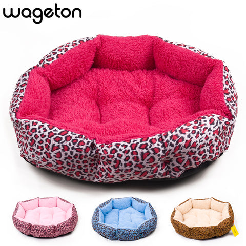 Hot s! NEW! Colorful Leopard print Pet Cat and Dog bed Pink, Blue, Yellowish brown,