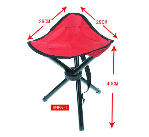 Hot sell Leisure tool Large Three Legged Fishing Stool Outdoor Portable Folding Fishing