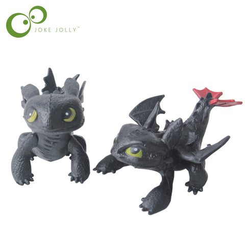 How To Train Your Dragon Toy Action Figures Night Fury Toothless PVC Dragon Children