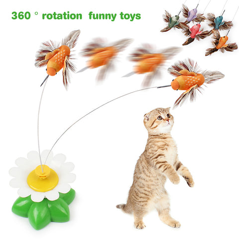 IDEPET Cat Toys Kitten Funny Pet Scratch toy Random Color 85.5cm Popular Electric Rotating