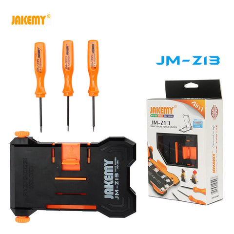 JM-Z13 4 in 1 Adjustable Fixed Screen Repair Holder with Screwdrivers PCB Holder Clamp