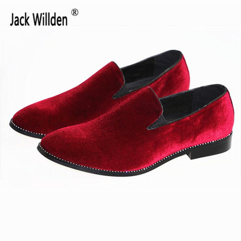Jack Willden New Arrive Man Fashion Slip-On Flock Loafers Mens Driving Party Flats Men's