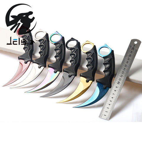 Jelbo Hand Tool Knife Counter Strike Fighting Survival Tactical Knife Claw Camping Tools