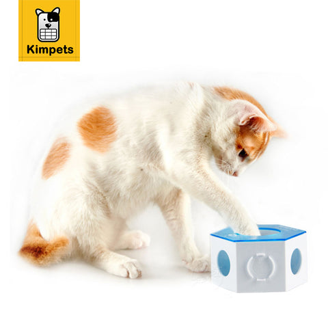 KIMHOME PET Plastic Cat Bowls Anti-Choking Dog Feeder Slow Eating Pet Snack Box Training