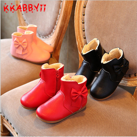 Boots for Girls KKABBYII New Autumn Winter Girls Boots Children Leather Shoes Fashion Girls Princess boots