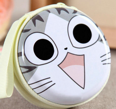 KVKY Creative Cute Cartoon Cat Coin Purses Character Mini Portable Bags Cases For Girl