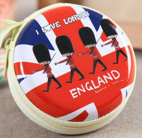 KVKY Creative Wallet Cute British Soldier Cartoon Coin Purses Character Mini Portable