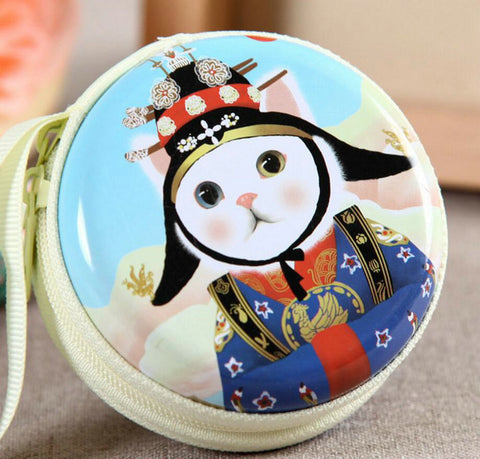 KVKY Hot Creative Wallet Cute Cat Cartoon Coin Purses Character Mini Portable Bags/Cases