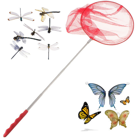 Kids Child Toys Extendable Butterfly Net Insect Bug Handle Pole Folding Fishing Net