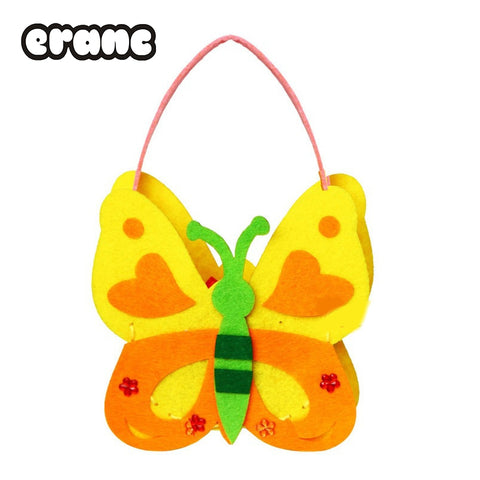 Kids DIY Handmade Handbags Cloth Children Handwork Cloth Crafts DIY Sewing Bag Cartoon