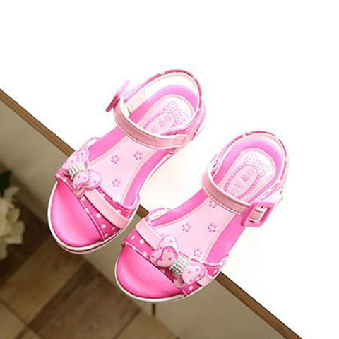 Kids Sandals Girls Summer New Dot Bow Shoes For Girls Fashion Princess Fish Head Kids