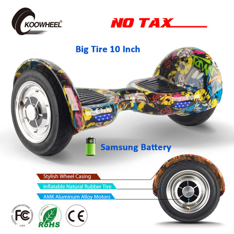 Koowheel Electric Hoverboard 10 inch Samsung Battery 2 Wheels Self Balancing Scooter