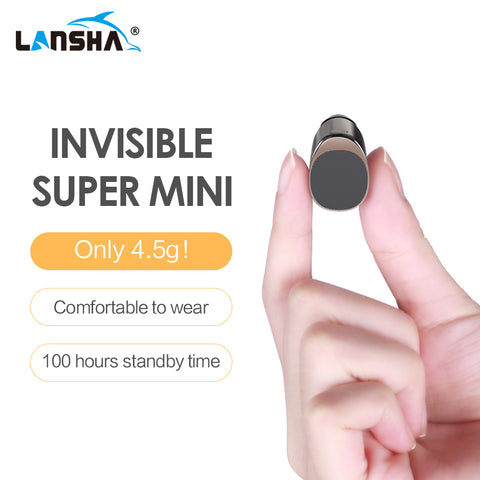 LANSHA Mini Bluetooth Earbuds Handsfree Noise Cancelling Smallest Wireless Earphone With