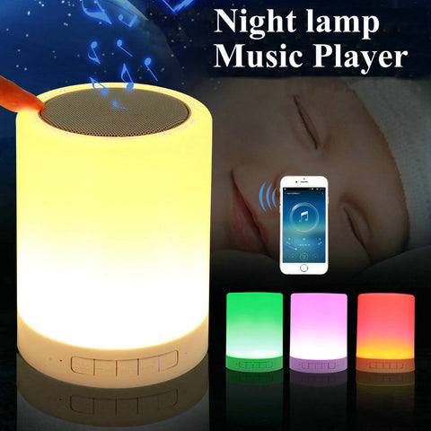 LED Baby Night Light Novelty Kids Night Lamp Girl Boy Gift USB Sensor with Bluetooth Music