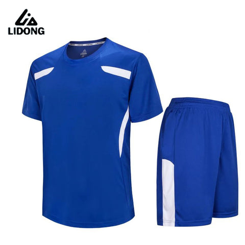 LIDONG New Men Soccer Jerseys shorts Set Youth Kids boy survetement football Futbol