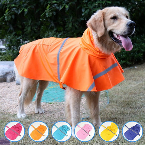 Large Dog Raincoat Summer Pet Coats Jacket Dog Clothes Outdoor Rain Coat Waterproof Pet