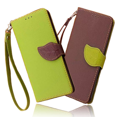 Leaf Wallet Case for Samsung Galaxy J3 Cover Coque Flip Case Cover Samsung Galaxy J3 Coque