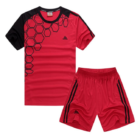 Lidong Kids Trajes De Futbol Soccer Uniform Running Training Shirt Shorts Breathable