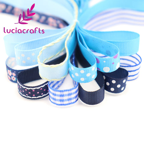 Lucia crafts Multi Option Printed Grosgrain/Satin Ribbons DIY Sewing Hairbows Gift