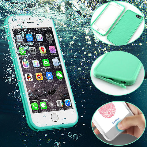 Luxury 360 Degree Soft Silicone Waterproof Cases for iPhone 6 Case 5 5s 6 7 Plus Cover for