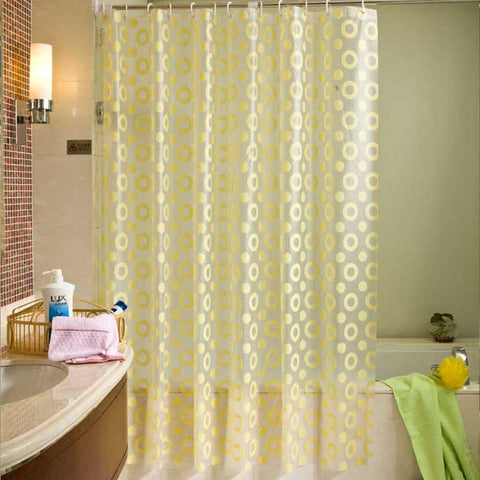Luxury Shower Curtain PEVA Mold Proof Waterproof Eco-friendly Endless Curtains Bathroom