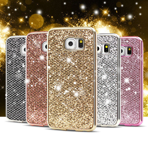 Luxury Soft Bling Case For Samsung Galaxy S8 Plus S8+ J3 J5 J7 J530 J730 A3 A5 A7