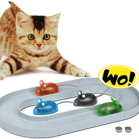 [MPK 10 Years] Cat Toy, Dual Battery Powered Electric Mouse Toys for Cats and Kittens .
