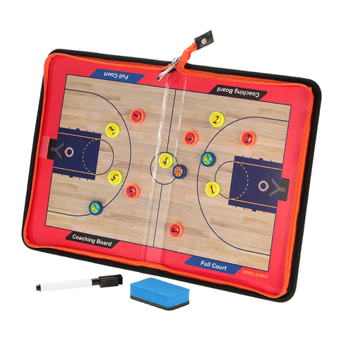 Magnetic Basketball Coach Board Erasable Folding Tactics Coaching Board Clipboard with