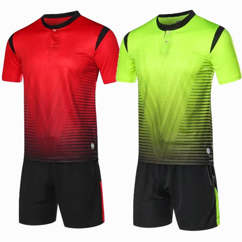 Man Football Kits Camiseta De Futbol Soccer Jersey Set with Shorts Maillot De Foot