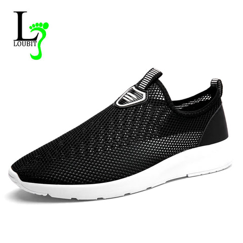 Men Shoes Men Walking Shoes Breathable Summer Light Mesh Loafers Men Slip on