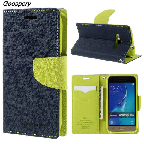 Mercury Goospery Double Color Leather Flip Case Cover For Samsung Galaxy S4 S5 S6 S8 A3 A5