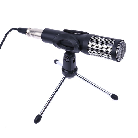 Microfone USB Plug and Play Drive- Desktop Condenser Microphone with Tripod/XLR