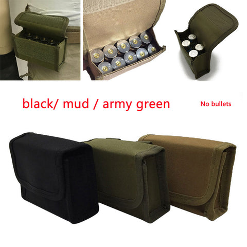 Military Hunting Waist Bag Pouch 10Round 12GA Mini Multifunction Tactical Buttstock Bullet