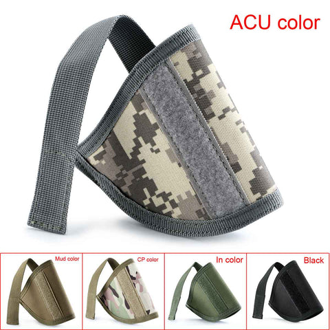 Military Tactical Airsoft Pistol Protective Holder Gun Holster Nylon Open Top Inside the