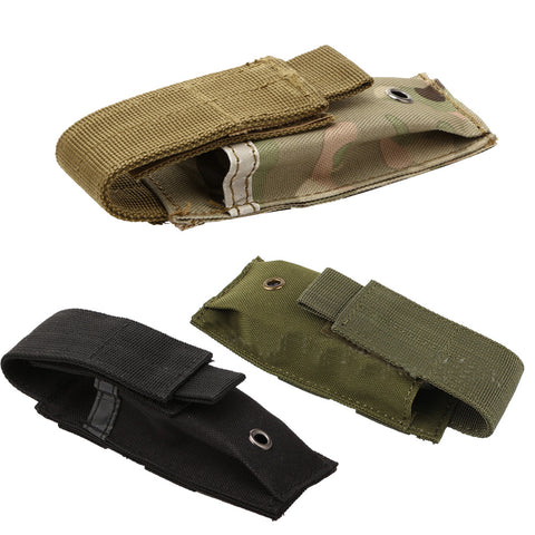 Military Tactical Single Pistol Magazine Pouch Knife Flashlight Sheath Airsoft Hunting