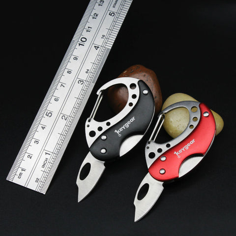 Mini Portable Key Fold Knife Camping Tactical Survival Folding Pocket knife Key Ring